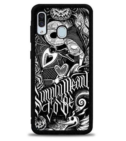 Jack And Sally Muertitos The Nightmare Before Christmas F0874 Samsung Galaxy A20 Case