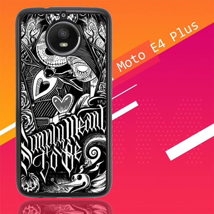 Jack And Sally Muertitos The Nightmare Before Christmas F0874 Motorola Moto E4 Plus Case New Year Gifts 2020-Motorola Moto E4 Plus-Recovery Case