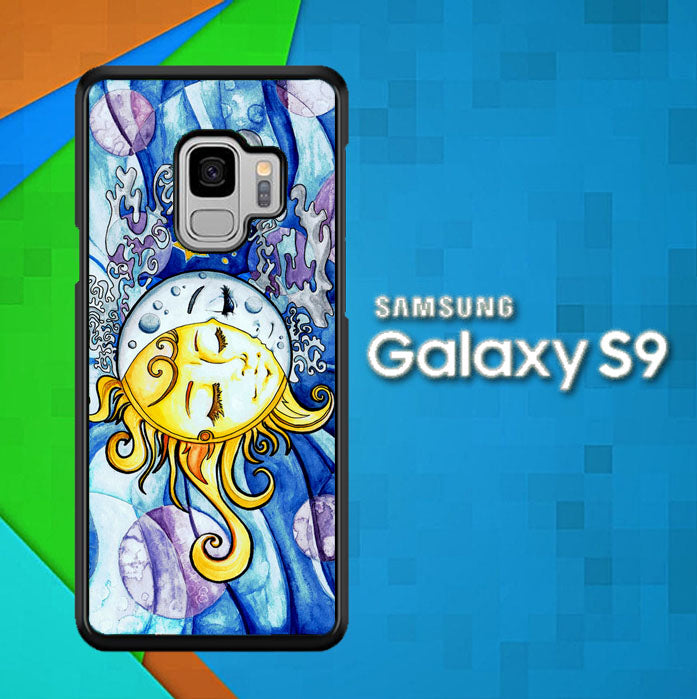 SUN AND MOON Z1074 Samsung Galaxy S9 Case Christmas Gifts | Xmas Presents and Gift Ideas-Samsung Galaxy S9 Cases-Recovery Case