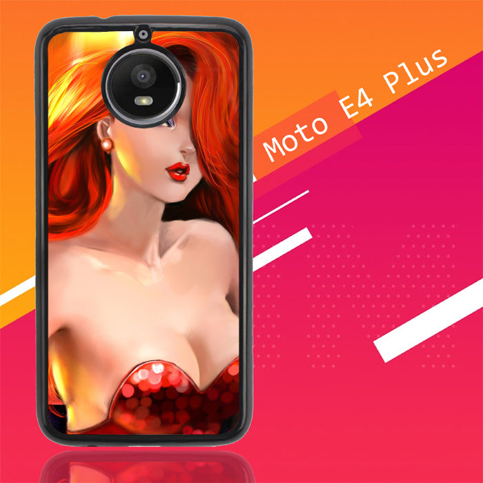 Jessica Rabbit Z1527 Motorola Moto E4 Plus Case New Year Gifts 2020-Motorola Moto E4 Plus-Recovery Case