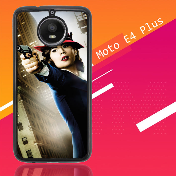 Agent Peggy Carter Z1577 Motorola Moto E4 Plus Case New Year Gifts 2020-Motorola Moto E4 Plus-Recovery Case