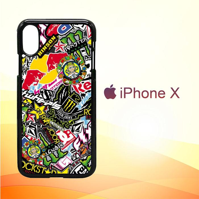 Sticker Bomb Z4015 iPhone X | iPhone XS Premium Case New Year Gifts 2020-iPhone X Cases-Recovery Case