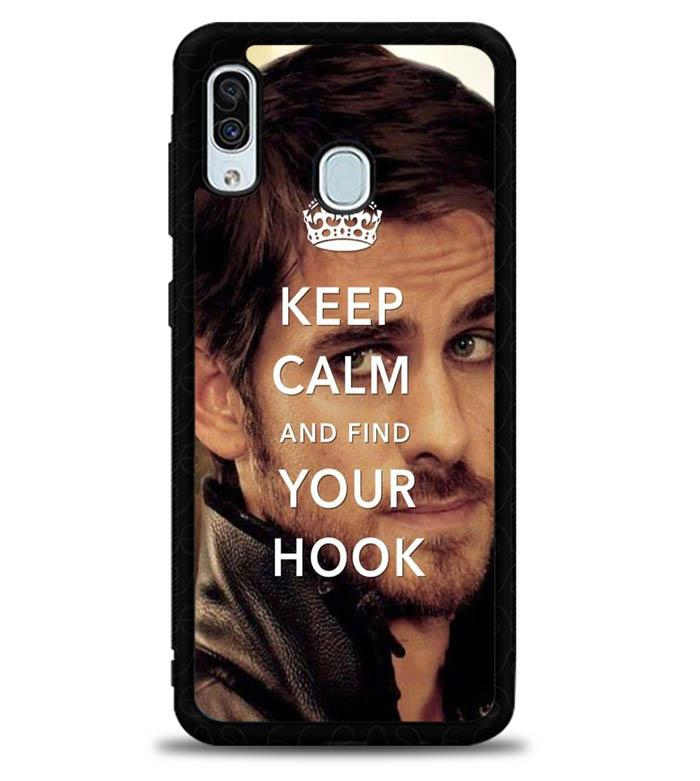 Once Upon A Time Captain Hook Keep Calm Samsung Galaxy A20 Case