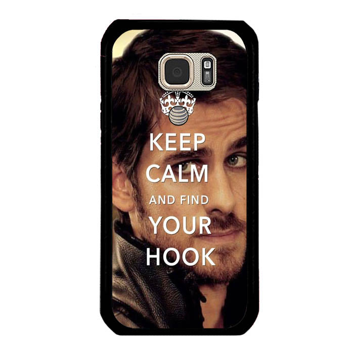 Once Upon A Time Captain Hook Keep Calm Samsung Galaxy S7 Active Case New Year Gifts 2020-Samsung Galaxy S7 Active Cases-Recovery Case