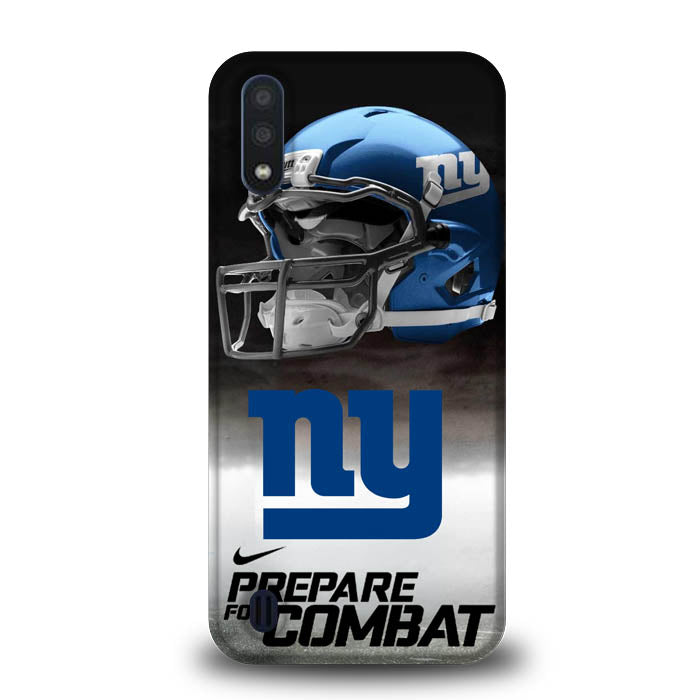 New York Giants NFL Prepare For Combat Logo Samsung Galaxy A01 Case