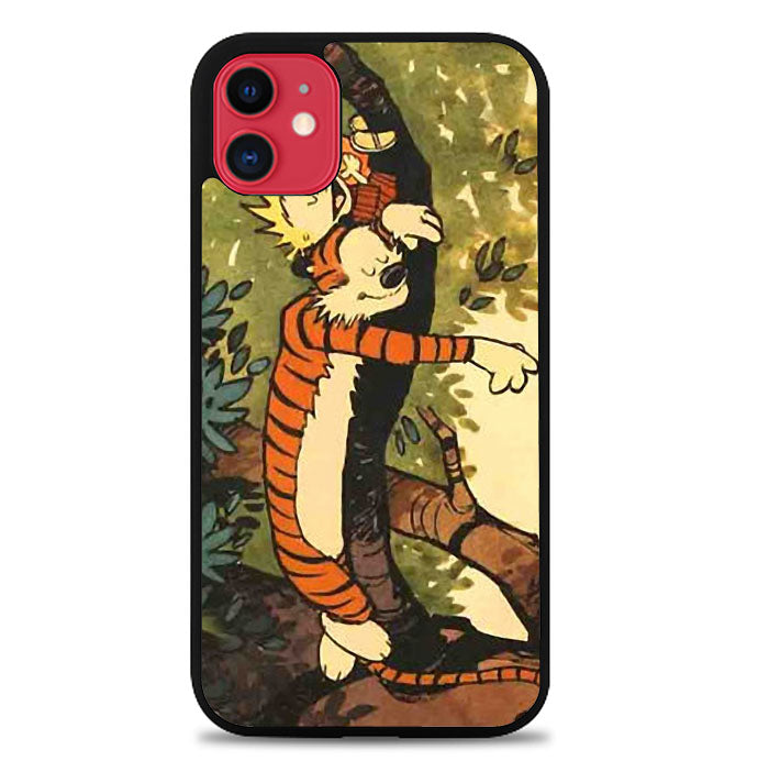 Sleep on The Tree Calvin And Hobbes A0035 iPhone 11 Case