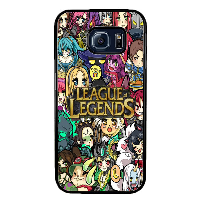 League of Legends Chibi Champions A0672 Samsung Galaxy S7 Edge Case New Year Gifts 2020-Samsung Galaxy S7 Edge Cases-Recovery Case