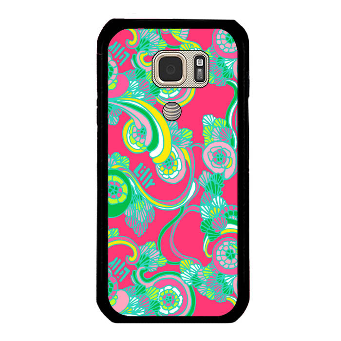 Lilly Pulitzer Scarlet Bego A1044 Samsung Galaxy S7 Active Case New Year Gifts 2020-Samsung Galaxy S7 Active Cases-Recovery Case