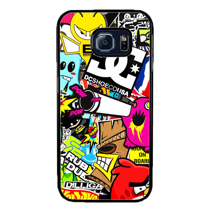 Pow Pow DCshoes Stickerbomb A1111 Samsung Galaxy S7 Edge Case New Year Gifts 2020-Samsung Galaxy S7 Edge Cases-Recovery Case