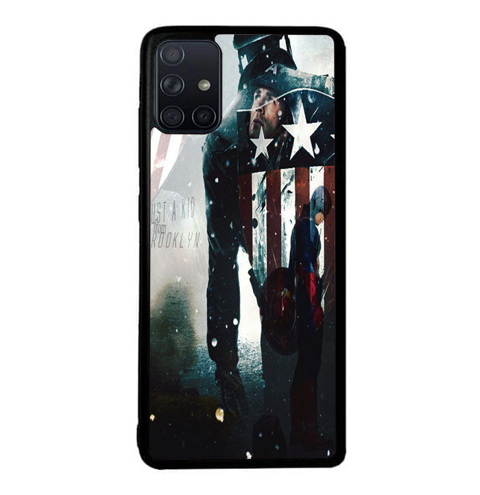 captain america Just a Kid From Brooklyn A1333 Samsung Galaxy A51 Case