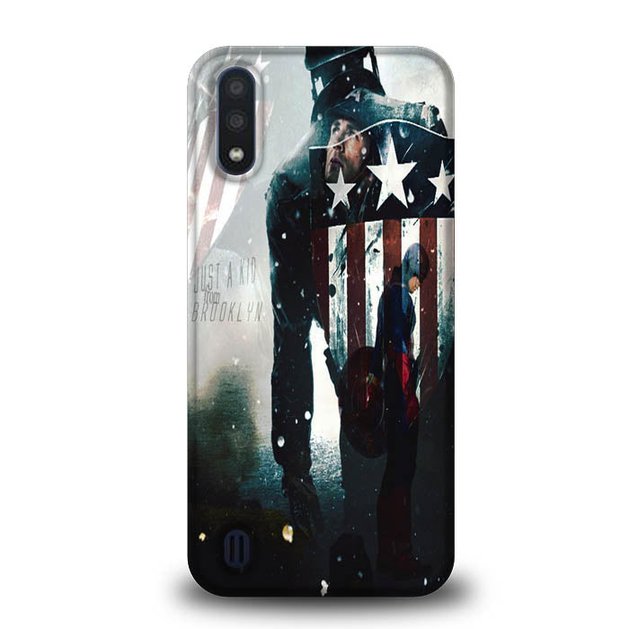 captain america Just a Kid From Brooklyn A1333 Samsung Galaxy A01 Case