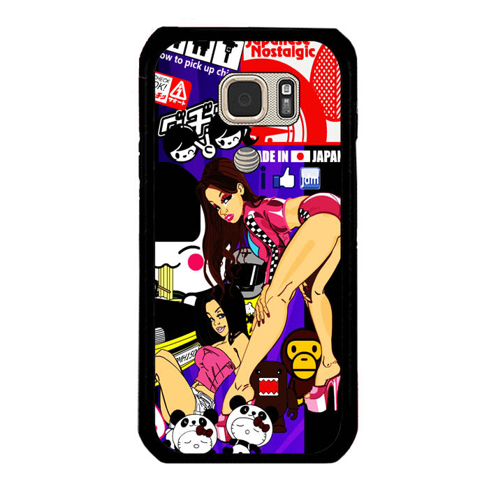 Eat Sleep JDM Stickerbomb A1416 Samsung Galaxy S7 Active Case New Year Gifts 2020-Samsung Galaxy S7 Active Cases-Recovery Case