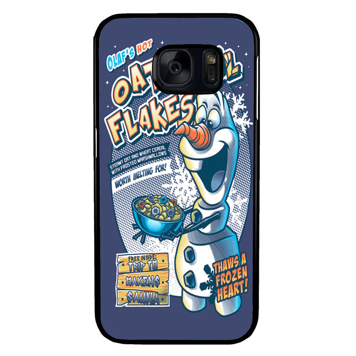 Frozen Let It Go Olaf Hot Oatmeal Flakes A1577 Samsung Galaxy S7 Case New Year Gifts 2020-Samsung Galaxy S7 Cases-Recovery Case