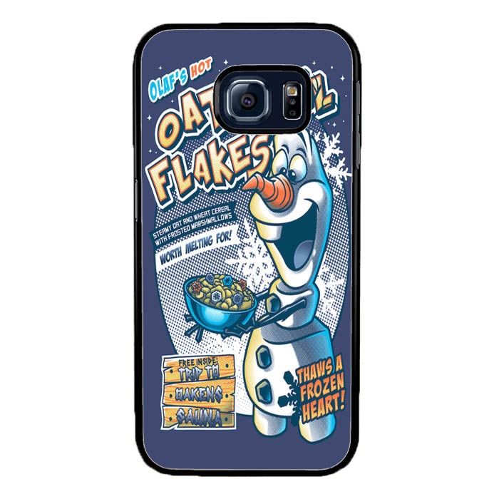 Frozen Let It Go Olaf Hot Oatmeal Flakes A1577 Samsung Galaxy S7 Edge Case New Year Gifts 2020-Samsung Galaxy S7 Edge Cases-Recovery Case