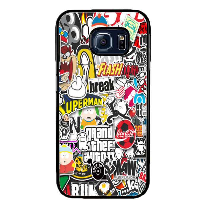 Grand Theft Auto Stickerbomb A1612 Samsung Galaxy S7 Edge Case New Year Gifts 2020-Samsung Galaxy S7 Edge Cases-Recovery Case
