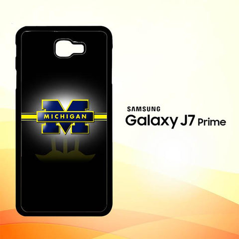 Michigan Wolverines X3347 Samsung Galaxy J7 V , J7 Sky Pro, J7 Prime, J7 Perx 2017 SM J727 Case Cover Cases