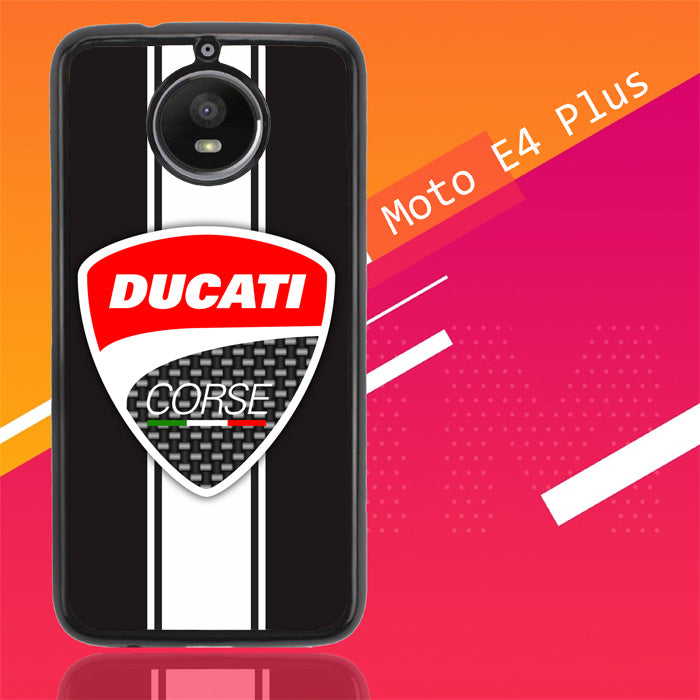 Logo Ducati Corse White Strip X3374 Motorola Moto E4 Plus Case New Year Gifts 2020-Motorola Moto E4 Plus-Recovery Case
