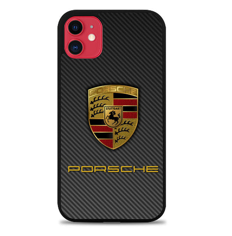 Porsche Logo Carbon X5017 iPhone 11 Case