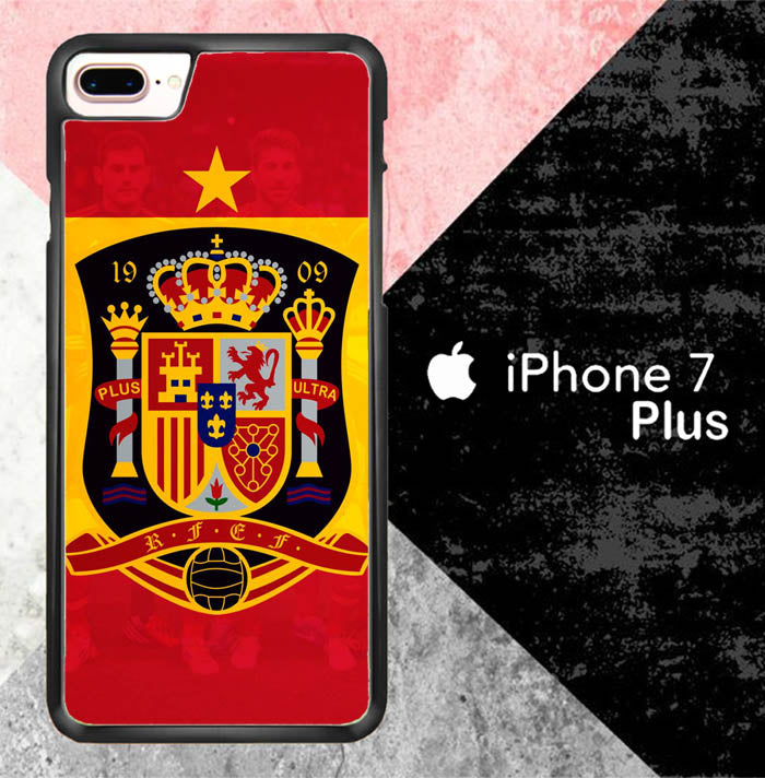 Spain soccer logo X7085 iPhone 7 Plus Case New Year Gifts 2020-iPhone 7 Plus Cases-Recovery Case