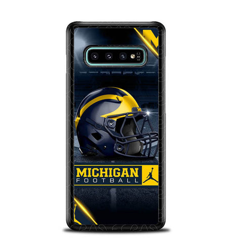 michigan wolverines helmet X8064 Samsung Galaxy S10 Plus Cover Cases