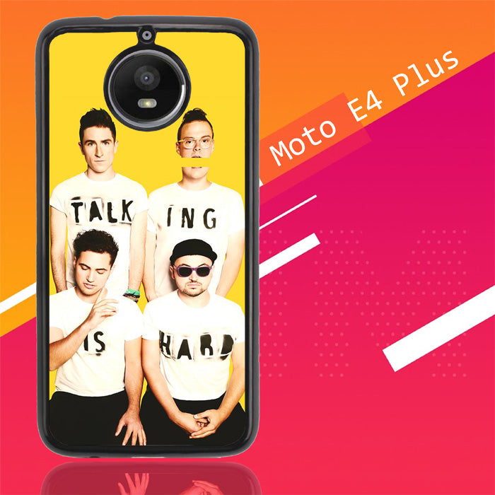 Walk The Moon Talking Is Hard Cover X0386 Motorola Moto E4 Plus Case Christmas Gifts | Xmas Presents and Gift Ideas-Motorola Moto E4 Plus-Recovery Case