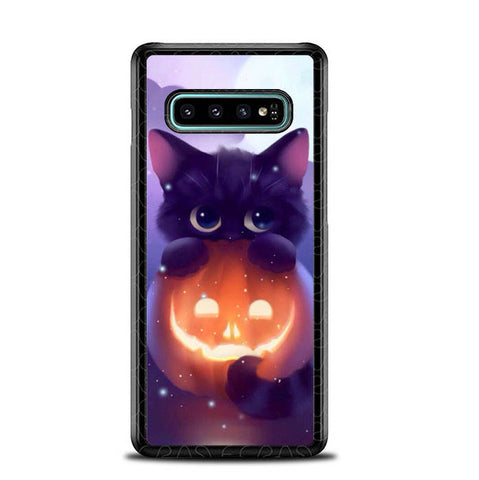 Halloween Cat L0018 Samsung Galaxy S10 Plus Cover Cases