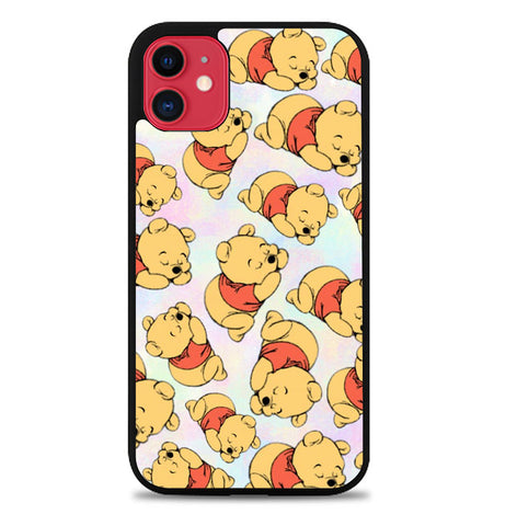 Winnie The Pooh Pattern L0296 iPhone 11 Case