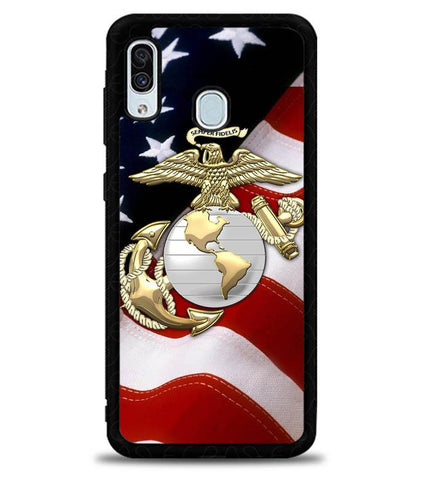 Marine Corps Anchor L1261 Samsung Galaxy A20 Case