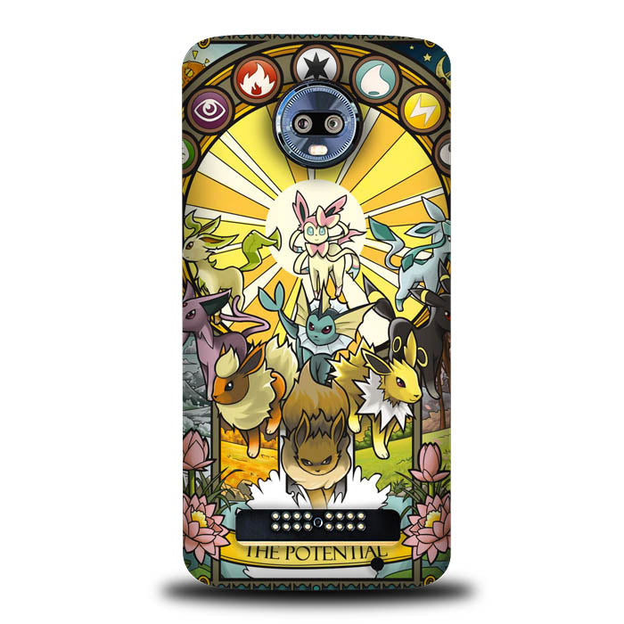 Pokemon The Potential L1277 Motorola Moto Z4 , Moto Z4 Play Case