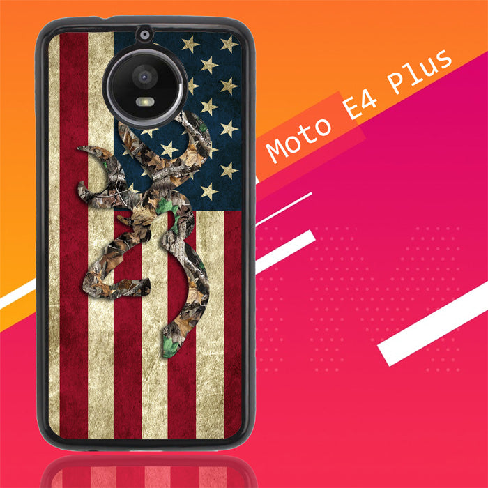 Browning Deer Real Tree Camo Usa Flag L1395 Motorola Moto E4 Plus Case New Year Gifts 2020-Motorola Moto E4 Plus-Recovery Case