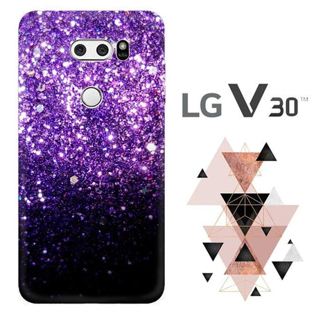 Purple Sparkling Glitter L1476 LG V30 Cover Cases