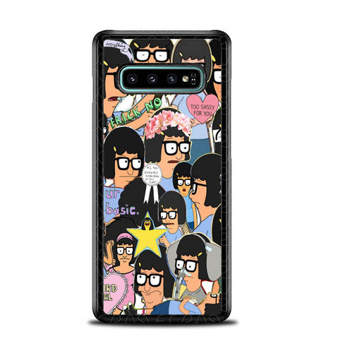 Tina Belcher Collage Bob's Burgers L1494 Samsung Galaxy S10 Plus Cover Cases