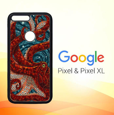 Kraken Octopus Stained Glass L1586 Google Pixel XL Case
