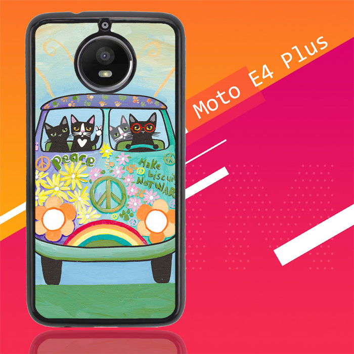 Hippie Cats Road Trip! L2171 Motorola Moto E4 Plus Case New Year Gifts 2020-Motorola Moto E4 Plus-Recovery Case