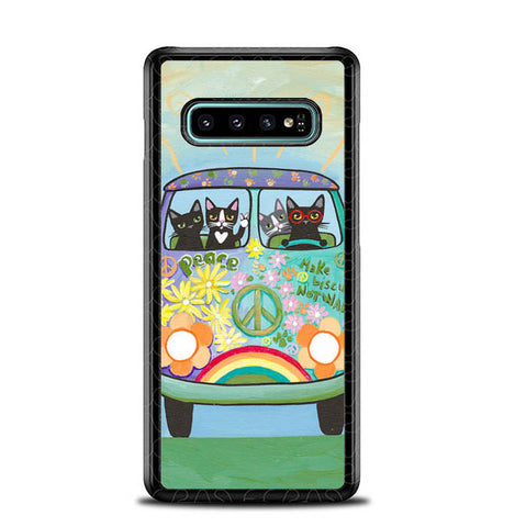 Hippie Cats Road Trip! L2171 Samsung Galaxy S10 Plus Cover Cases