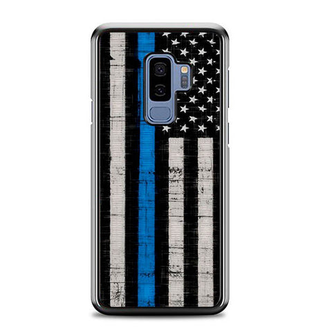 Police Blue Line Flag L2252 Samsung Galaxy S9 Plus Case