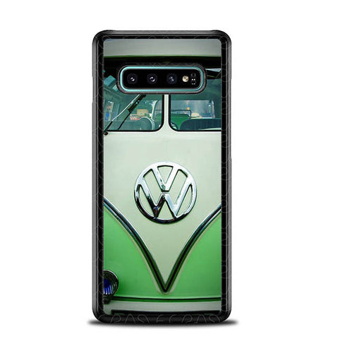 Green VW Campen Volkswagen Mini Bus L2284 Samsung Galaxy S10 Plus Cover Cases