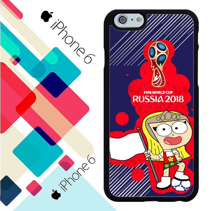Russia 2018 Fifa Wolrd Cup Cartoon L2625 iPhone 6 | 6S Case New Year Gifts 2020-iPhone 6 | 6S Cases-Recovery Case