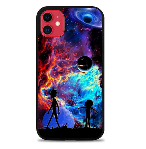 Rick and Morty Flat L2758 iPhone 11 Case