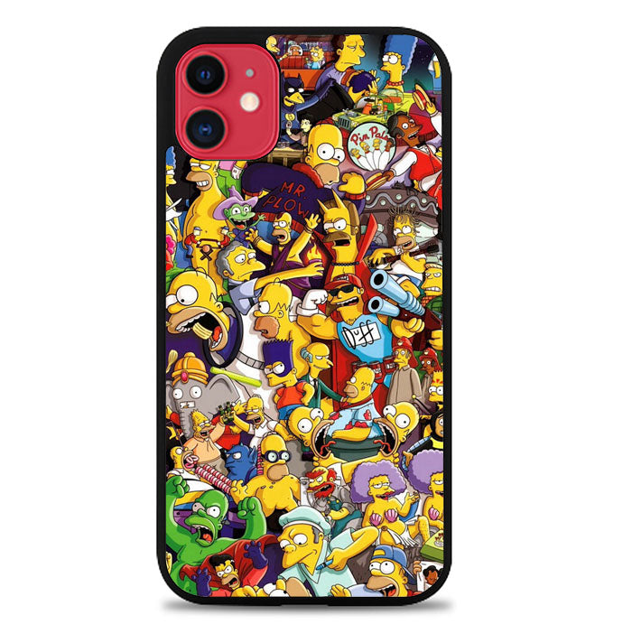 The Simpsons Collage L3019 iPhone 11 Case