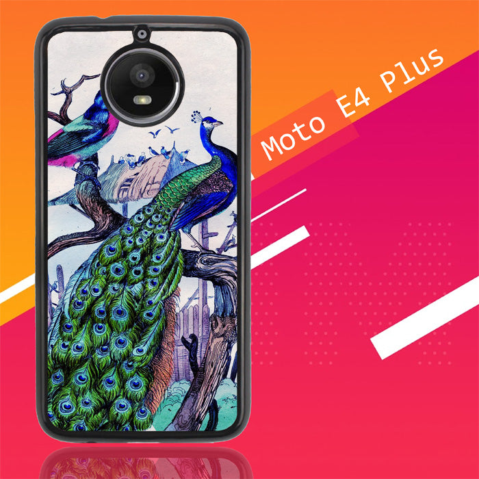 Vintage Classic Peacock Y0094 Motorola Moto E4 Plus Case Christmas Gifts | Xmas Presents and Gift Ideas-Motorola Moto E4 Plus-Recovery Case
