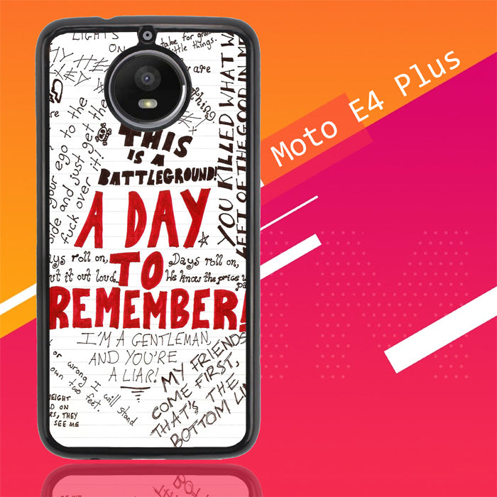 A Day To Remember Wallpaper Y0237 Motorola Moto E4 Plus Case New Year Gifts 2020-Motorola Moto E4 Plus-Recovery Case