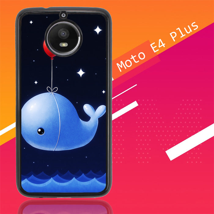 Whale Balloons Wallpaper Y0408 Motorola Moto E4 Plus Case Christmas Gifts | Xmas Presents and Gift Ideas-Motorola Moto E4 Plus-Recovery Case