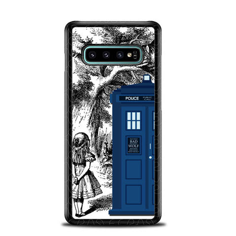 Alice In Wonderland Tardis Y0439 Samsung Galaxy S10 Plus Cover Cases