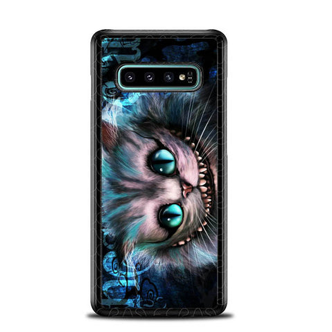 cheshire cat quote wallpaper Y0451 Samsung Galaxy S10 Plus Cover Cases