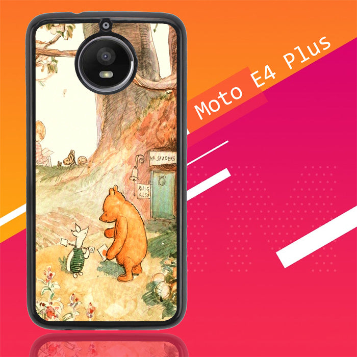 Winnie The Pooh Vintage Y0607 Motorola Moto E4 Plus Case Christmas Gifts | Xmas Presents and Gift Ideas-Motorola Moto E4 Plus-Recovery Case