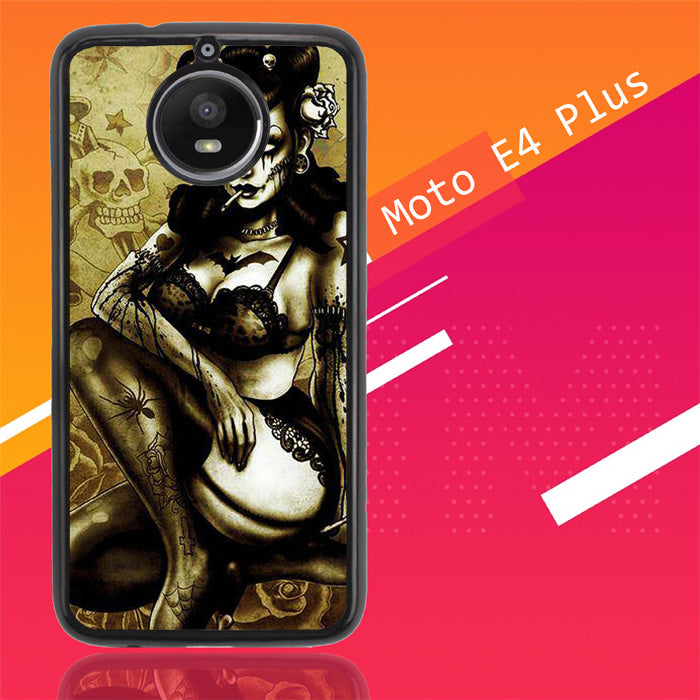 Zombie Pin Up Y0965 Motorola Moto E4 Plus Case Christmas Gifts | Xmas Presents and Gift Ideas-Motorola Moto E4 Plus-Recovery Case