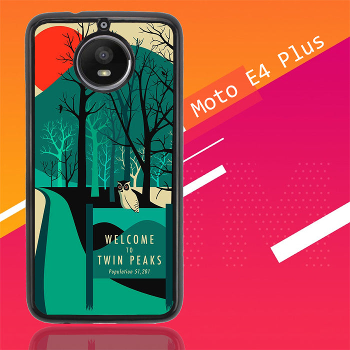 Welcome To Twin Peaks Wallpaper Y0980 Motorola Moto E4 Plus Case Christmas Gifts | Xmas Presents and Gift Ideas-Motorola Moto E4 Plus-Recovery Case