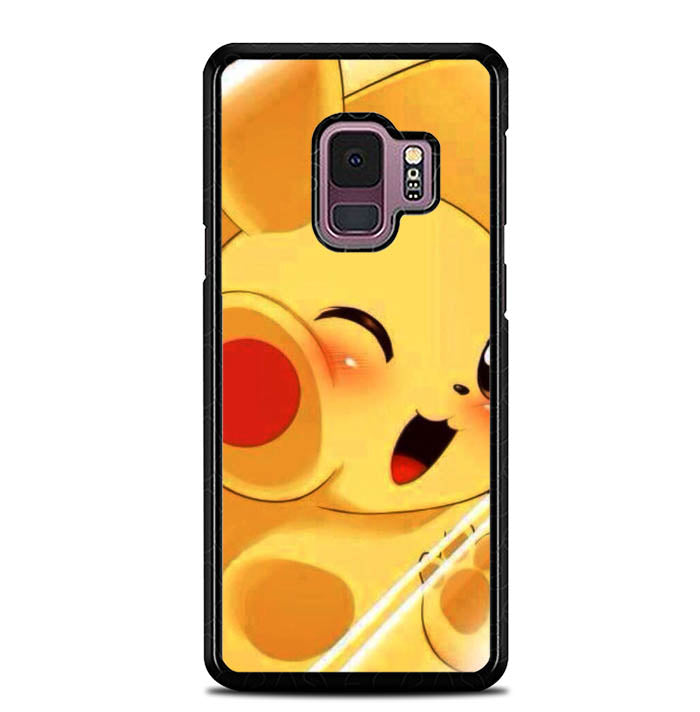 Pikachu Chubby WALLPAPER Y1343 Samsung Galaxy S9 Case