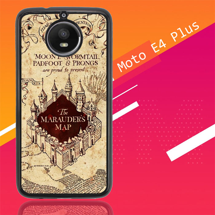 Marauders Map Hogwarts Y1388 Motorola Moto E4 Plus Case New Year Gifts 2020-Motorola Moto E4 Plus-Recovery Case